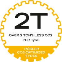 Icon: Rösler retreaded EM tyres save more than 2 tons of CO2 per tyre